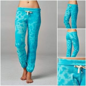 Pants - Women's Printed Tie Dye Foldover Waistband Pants